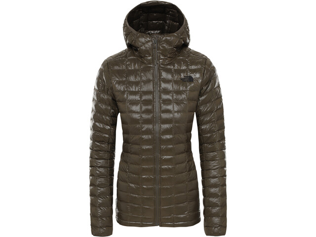 The North Face ThermoBall Eco Hoodie Jacket Dame New Taupe Green